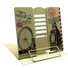 Book Stand Book Holder Adjustable Foldable Book Stand Cute [I]
