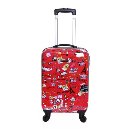 578d8609b5 Karabar Dewberry Super Lightweight Polycarbonate Hard Shell Carry On Cabin  Hand Luggage Suitcase with 4 Wheels