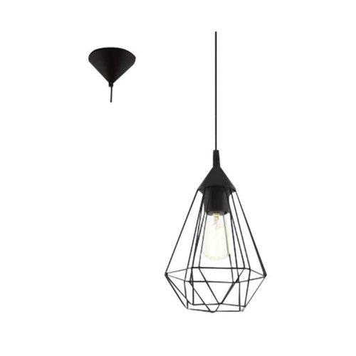 EGLO Pendant Lamp Tarbes D17.5 cm Black 94187