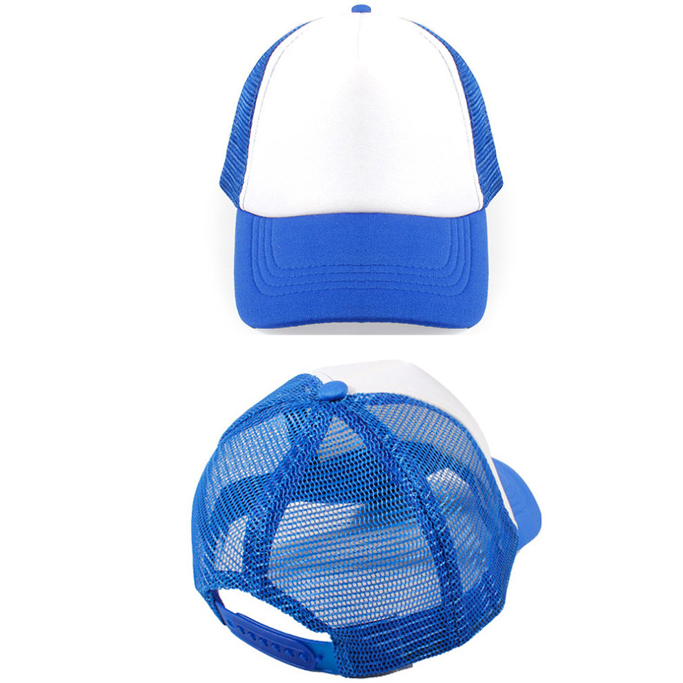 07d9c12fdc9 ... Sky Blue White Red Children Sports Cap Mesh Hat Baseball Cap Fitted Hats
