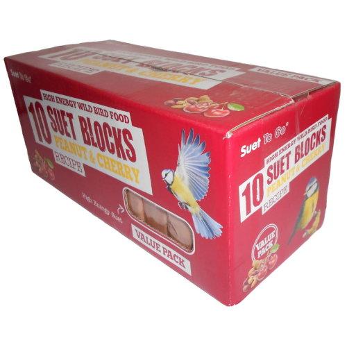 Suet To Go Blocks Peanut & Cherry Value 10 Pack