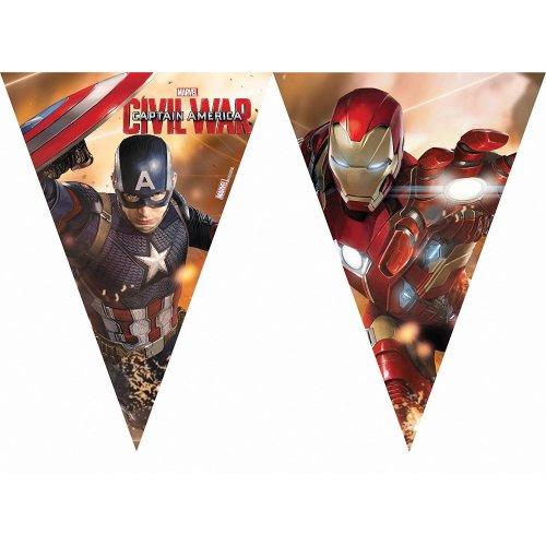 Captain America Civil War Triangle Flag Banner 2 3m Marvel Party