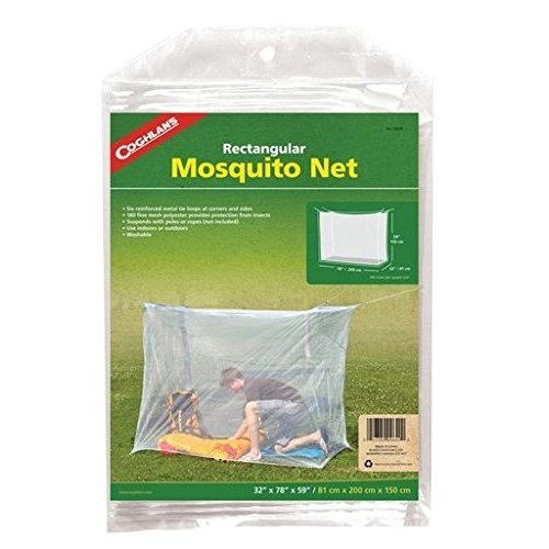 Coghlans Single Wide Rectangular Mosquito Net, White
