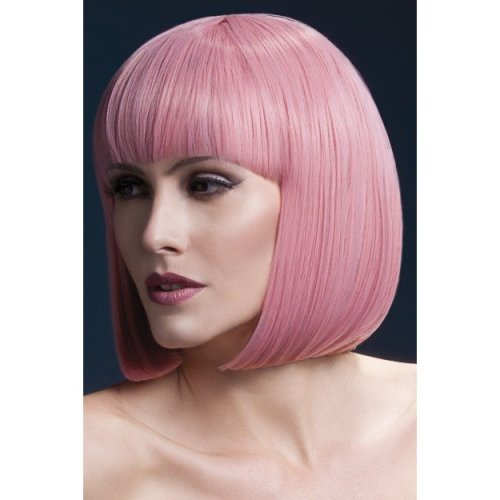Fever Women's Elise Wig, One Size, Pastel Pink -  wig fever elise pink fancy dress 13 short bob ladies deluxe pastel 13in33cm adult womens smiffys