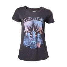 Guardians Of The Galaxy 2 Guardians Girls Shirt Mottled Dark Grey M Size