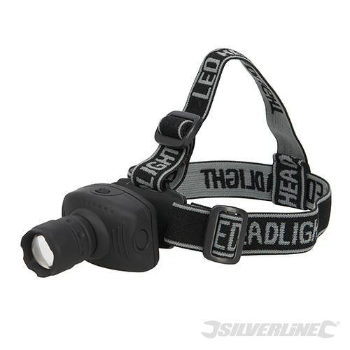 Silverline LED Head Torch 1w - 250734 -  head led torch silverline 1w 250734
