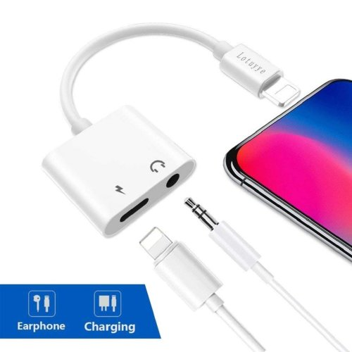 Lightning to 3.5mm Adapter for iPhone 7/7 iPhone X10 iPhone 8/8 Plus iPod iPad