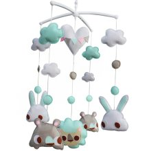Infant Musical Mobile, [Animal Friends, Party Time] Nursery Mobile, Baby Mobile