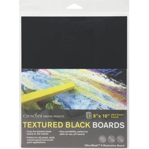 "Crescent Black Art Illustration Board 3/Pkg-8""X10"" Black"