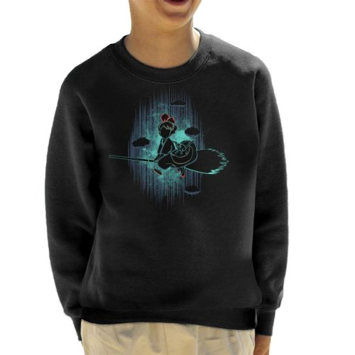 Shadow Of The Little Witch Kikis Delivery Service Kid's Sweatshirt