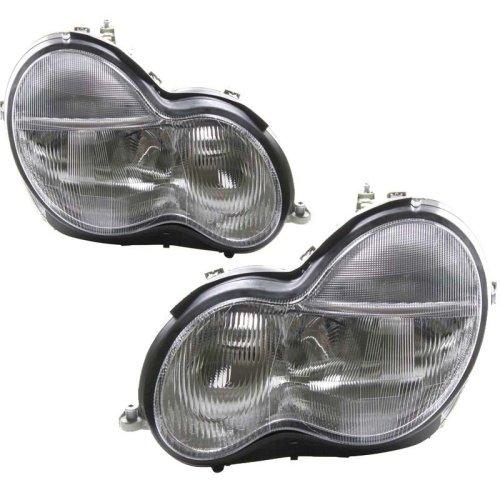Mercedes  C Class W203 10/2000-9/2002 Headlights Headlamps 1 Pair O/s & N/s