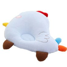 Cute and Soft Anti-roll Pillow Prevent Flat Head For 0-1 Years Blue