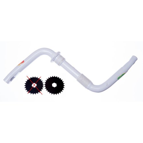 85mm ONE PIECE CRANK for Bike Bicycles (Hexagonal hole) in WHITE New