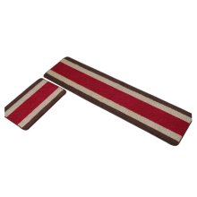 Set of 2 Classic Strip Shape Non-slip Kitchen Mats Room Mats Door Mats