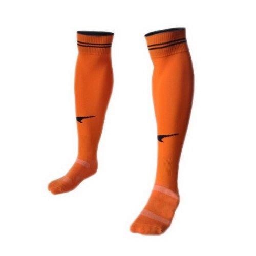 Quick Dry Orange Knee Length Football Socks for Adult