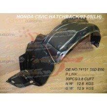 Honda Civic 2001-2005 Front Wing Arch Liner Splashguard Left N/s