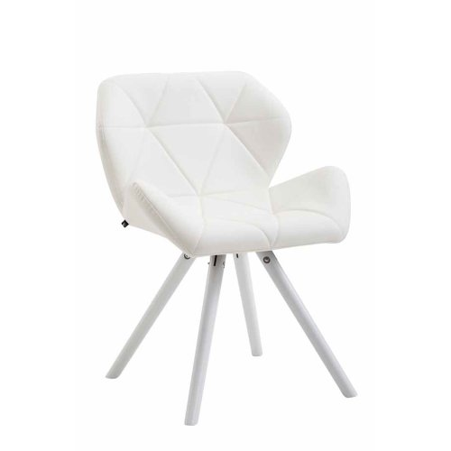 Visitor chair Tyler leatherette round white
