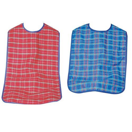 Adult dining bibs - Pack of 3 Washable Adult Bibs - Extra long bibs.