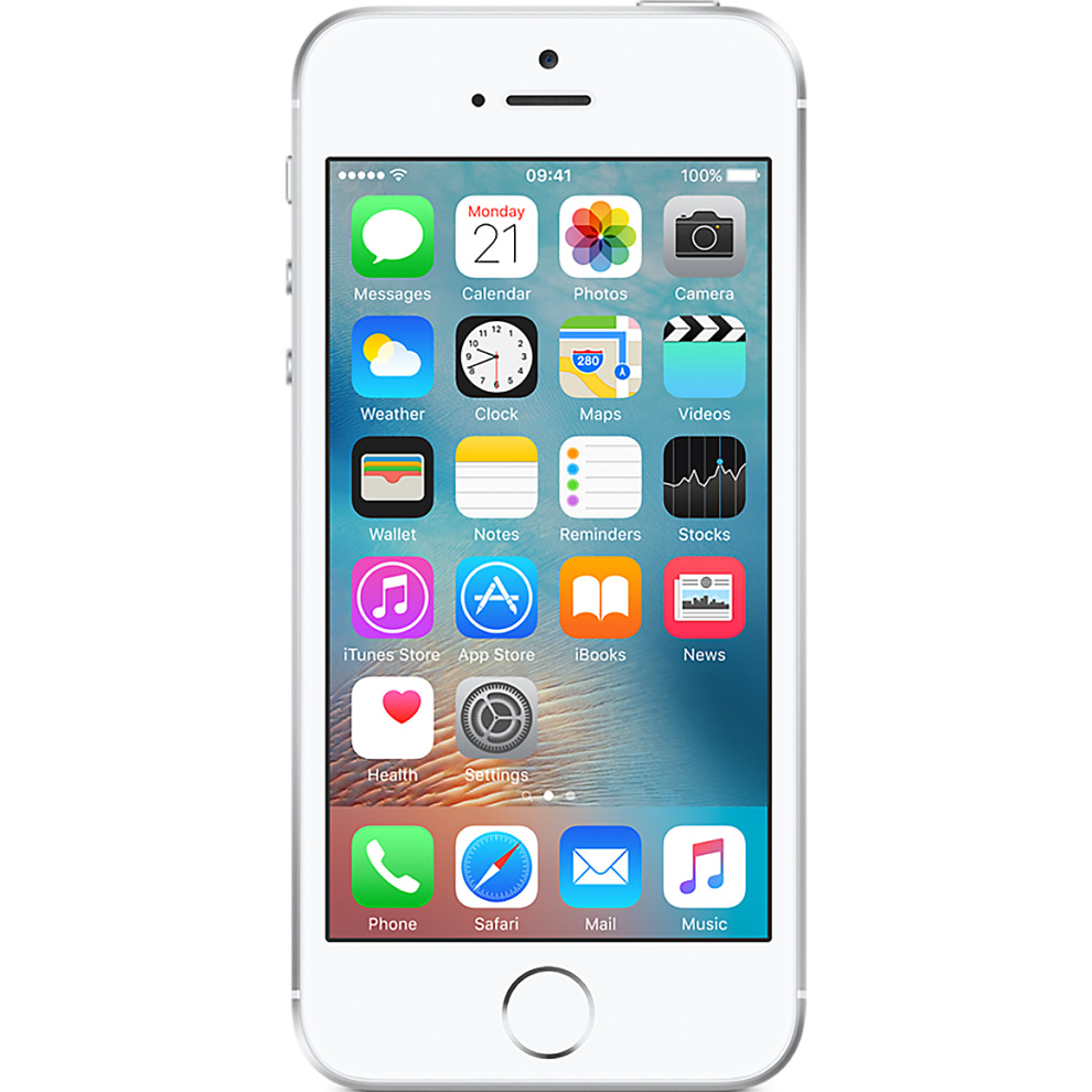 Orange, 16GB Apple iPhone SE - Silver