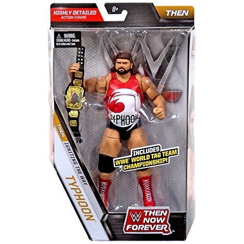 WWE, Elite Collection, Then Now Forever Typhoon (The Natural Disasters) Exclusive Action Figure, 7 Inches