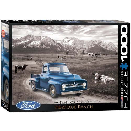 Eg60000668 - Eurographics Puzzle 1000 Pc - 1954 Ford F-100 Classic Car