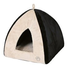 Trixie Gina Cuddly Cave for Cats & Small Dogs Black/Cream