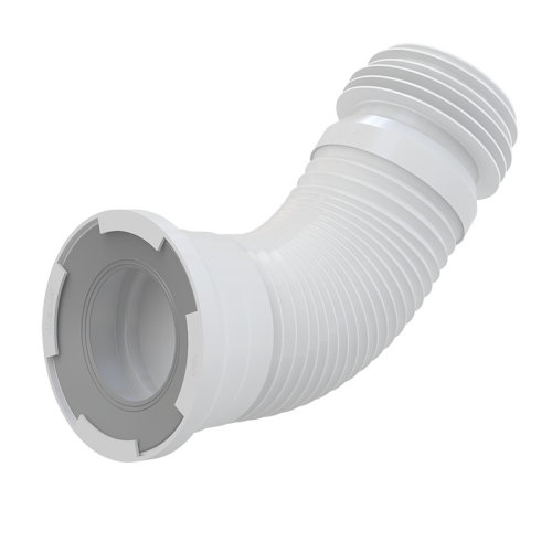 Alca WC Flexi Pan Connector For Toilet - Universal - Fits Pipe 100-120mm, WC 80-110mm