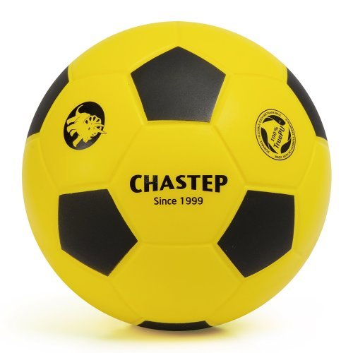 Vigoureux Chastep Normal 8'' Foam Ball Indoor/outdoor Football Soccer Perfect for Kids or Beginner Play and Excercise Soft Kick & Safe (Yellow/Black)