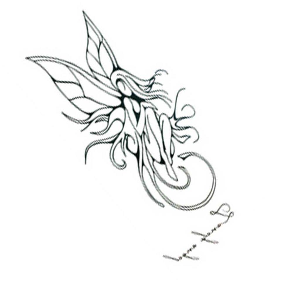 f9b6aa6b1 10 Pcs Popular Unisex Waterproof Angel Tattoo Stickers Arm Tattoo Stickers  ...