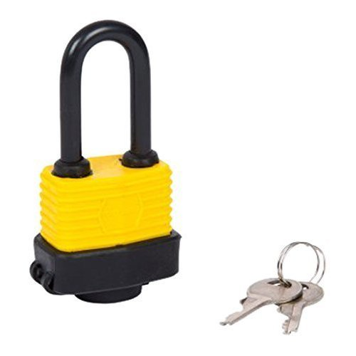 Fort Knox 40mm Long Shackle Weather Resistant Padlock - Waterproof Heavy Duty -  long shackle waterproof heavy duty steel padlock 40mm exterior gate