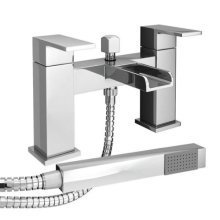 Waterfall Bath Shower Mixer Tap Modern Chrome with Shower Handset
