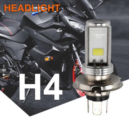 Motorcycle Cool H4 White Headlight 3030 LED Hi-Lo Beam Light Lamp Bulb 6500K