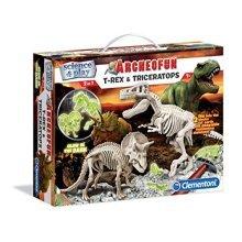 Archeofun T-Rex and Trice Glow - Clementoni 61245