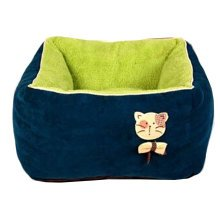 [Square Army Green] Faddish & Soft Pet Nest,Deep Sleep Cat Bed (45*45*27CM)