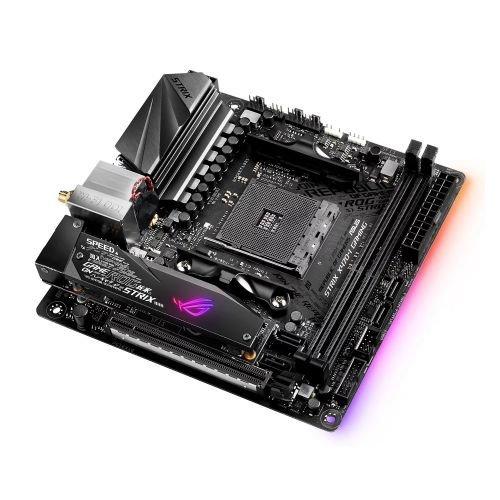 Asus STRIX X470-I GAMING, AMD X470, AM4, Mini ITX, DDR4, HDMI, Dual M 2,  Wi-Fi, RGB Lighting