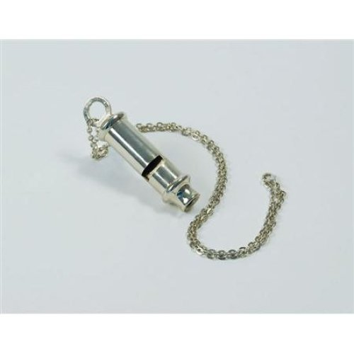 Silver Metal Police Whistle