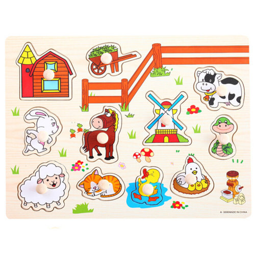 Wooden Kids Playschool Preschool Puzzled Educational Toy Puzzle,Pasture