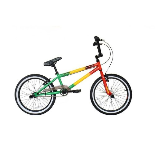 "2019 Rooster Jammin Rasta Kids 20"" Wheel 25/9T Gearing Freestyle BMX Bike RS900"
