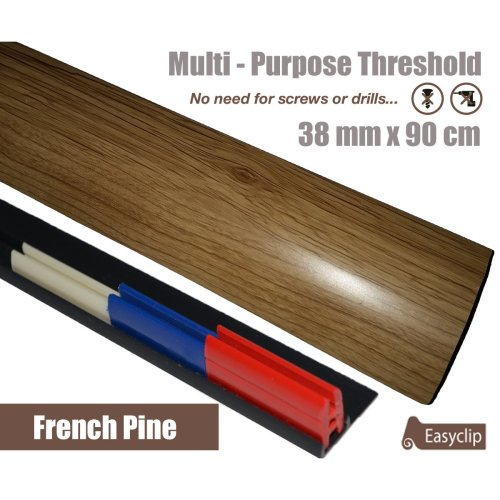 French Pine Multi Purpose Threshold Strip 38x90cm Adhesive Clip System