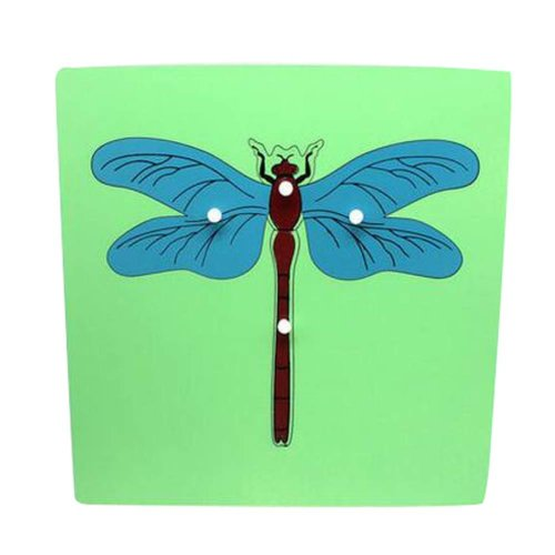 Dragonfly, Wooden Puzzle Fancy Toy For Children Educational Jigsaw Puzzle Game