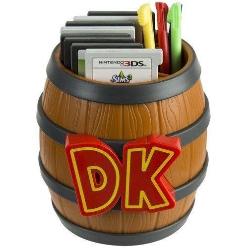 PDP Donkey Kong Barrel Game Card Storage Nintendo 2DS