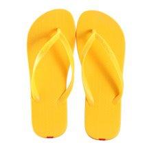 Unisex Casual Flip-flops Beach Slippers Anti-Slip House Slipper Yellow