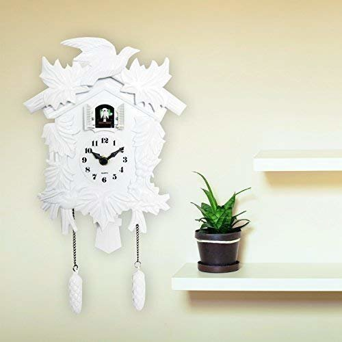 Walplus Elegant White Cuckoo Clock Wall Art Home Living Room Kitchen Décor Restaurant Cafe Hotel Office Decoration