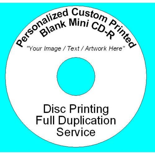 Personalized Custom Printed 8CM Mini DVD-R Disc (1.4GB 30min 12x) Full Colour