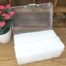 1000Pcs/Pack Makeup Facial Cotton Remover Organic Swab Cosmetic Eye Cleansing Pads With Box