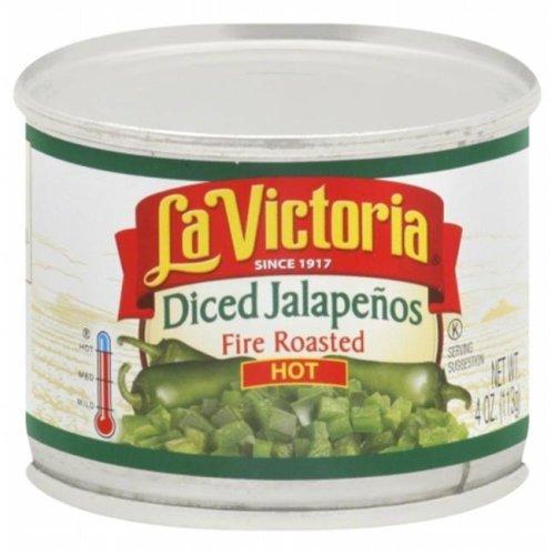 LA VICTORIA PEPPER JALPNO DICED HOT-4 OZ -Pack of 24