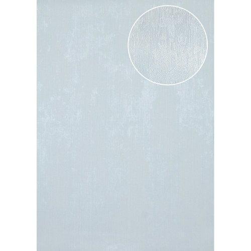 Atlas TEM-5112-4 Unicolour wallpaper shimmering pastel-blue 7.035 sqm