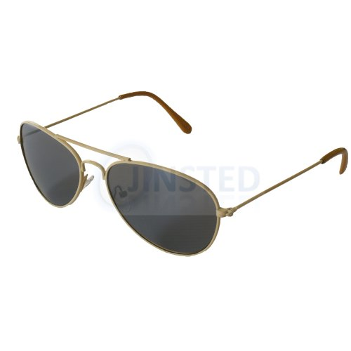 Childrens Tinted Lens Yellow Frame Aviator Sunglasses KA007