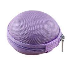 2PCS Portable Earbuds Case Earphone Holder Earbud Pouch Coins Bags Cases, Purple
