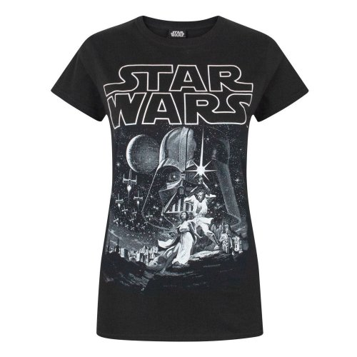 Star Wars Womens/Ladies A New Hope Poster T-Shirt